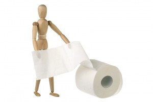Dummy and toilet paper